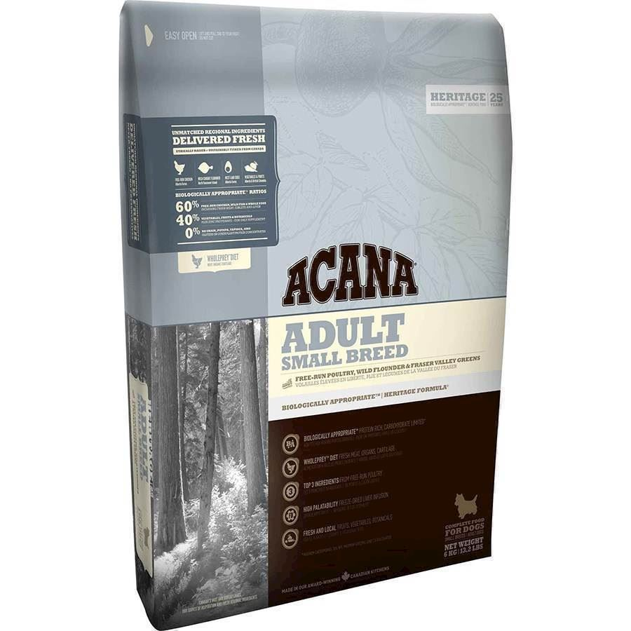 Acana Adult Small Breed, Heritage, 6 kg