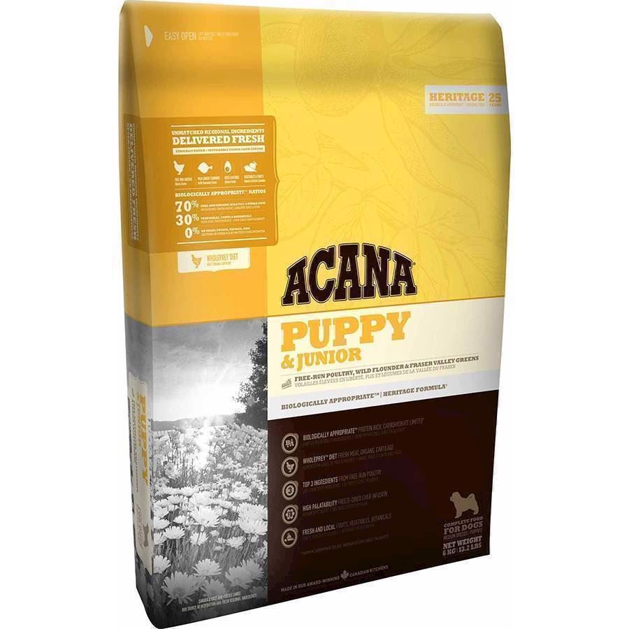 Acana Puppy og Junior Heritage, 2 kg