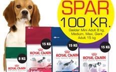 Spar 100 kr. tilbud p� Royal Canin